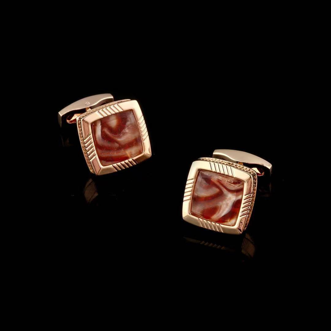 red jewelry Cufflinks