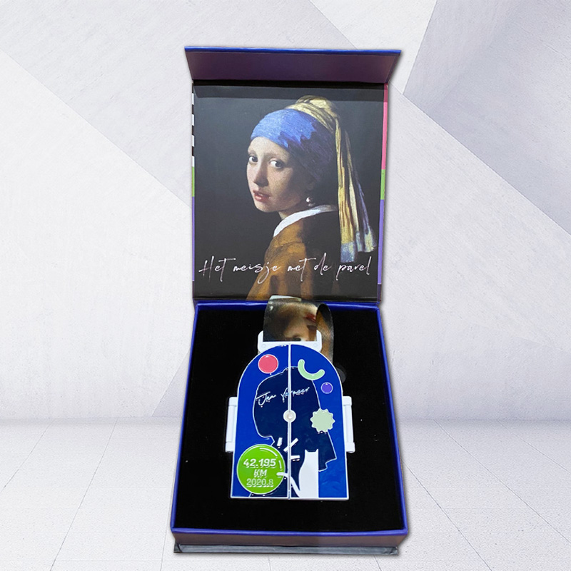 Custom virtual race medals