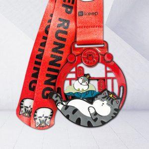 Custom virtual race medals cartoon
