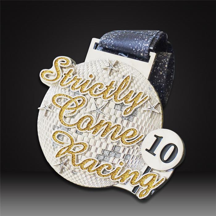 custom marathon medals 10K glitter