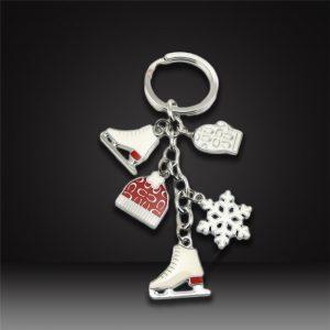 Custom hard enamel Keychains Christmas