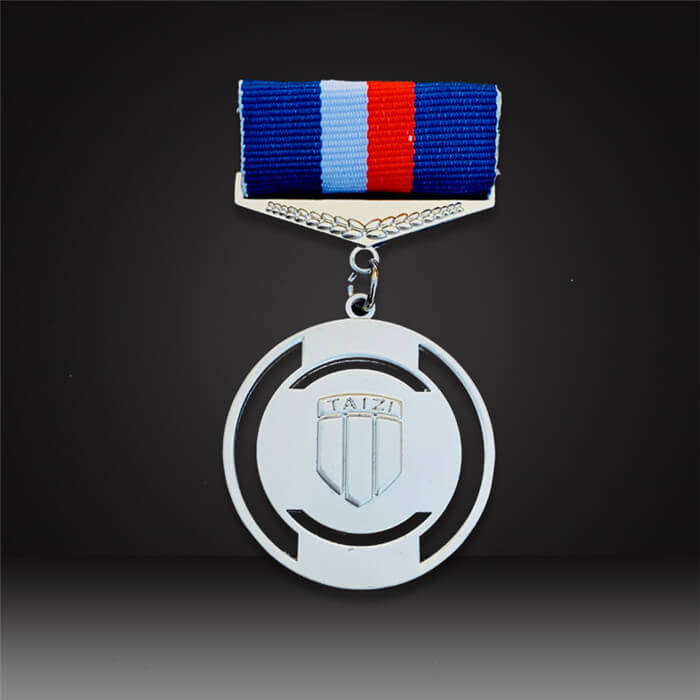 custom award medals silver finish