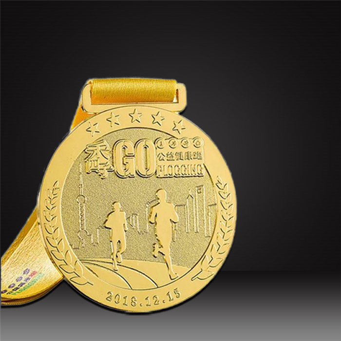 gold custom marathon medals