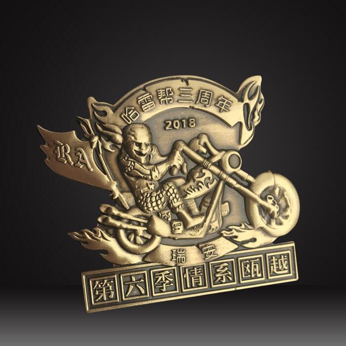custom metal logo platescustom metal logo plates 3D motorcycle club