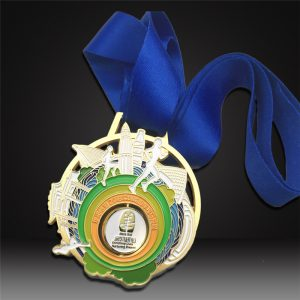 custom spinning medals matted gold