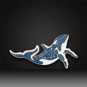 whale glitter hard enamel pins