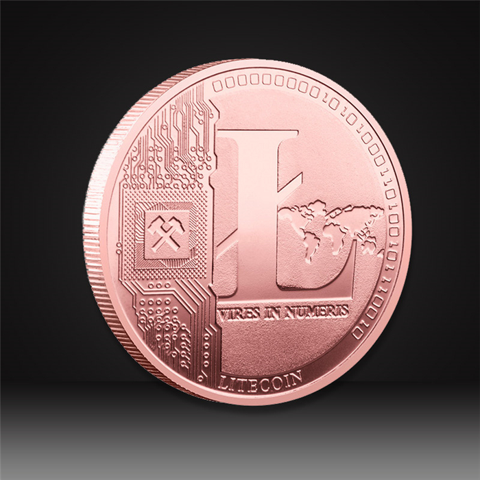 lite coin rose gold plating