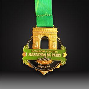 custom marathon medals 3d matted gold