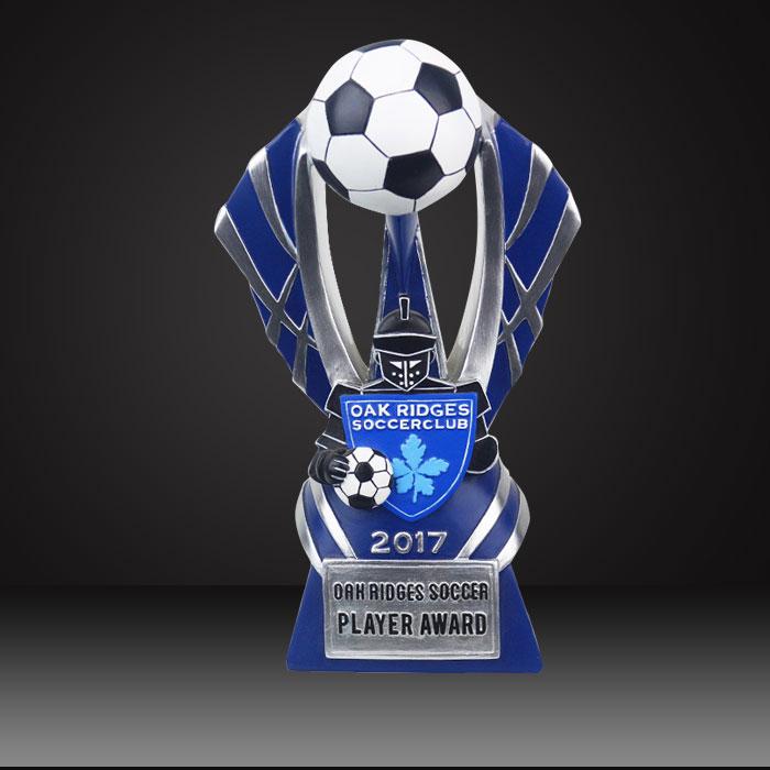 soccer custom trophy