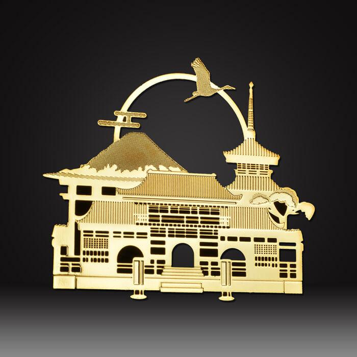 brass custom metal logo plate