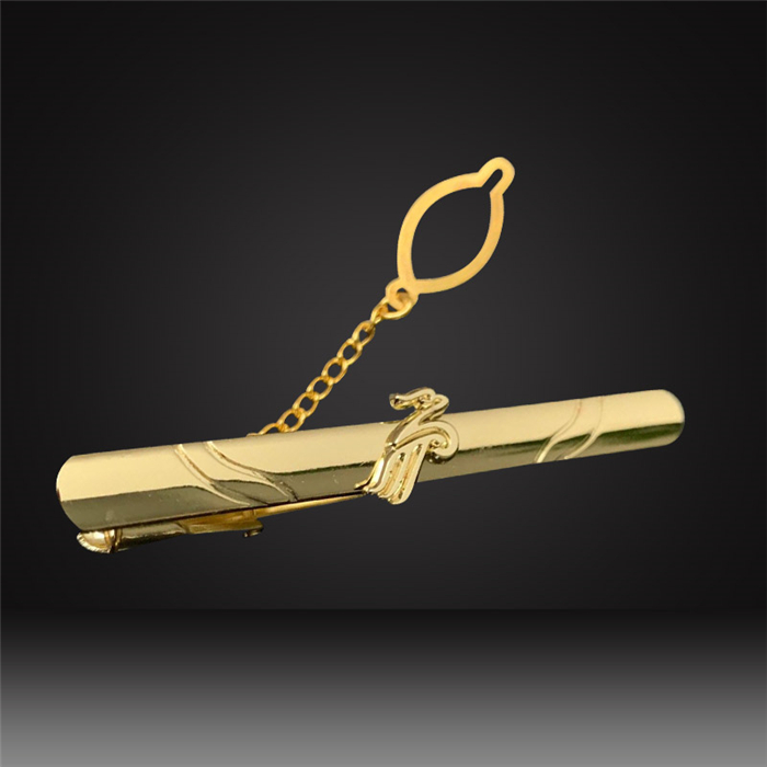 custom tie clips tie pin with chain