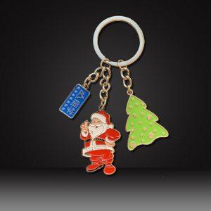 custom soft enamel keychains Christmas