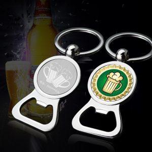 printing beer labels logo custom bottle opener Keychain