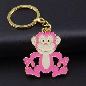 custom cartoon Keychain pink monkey