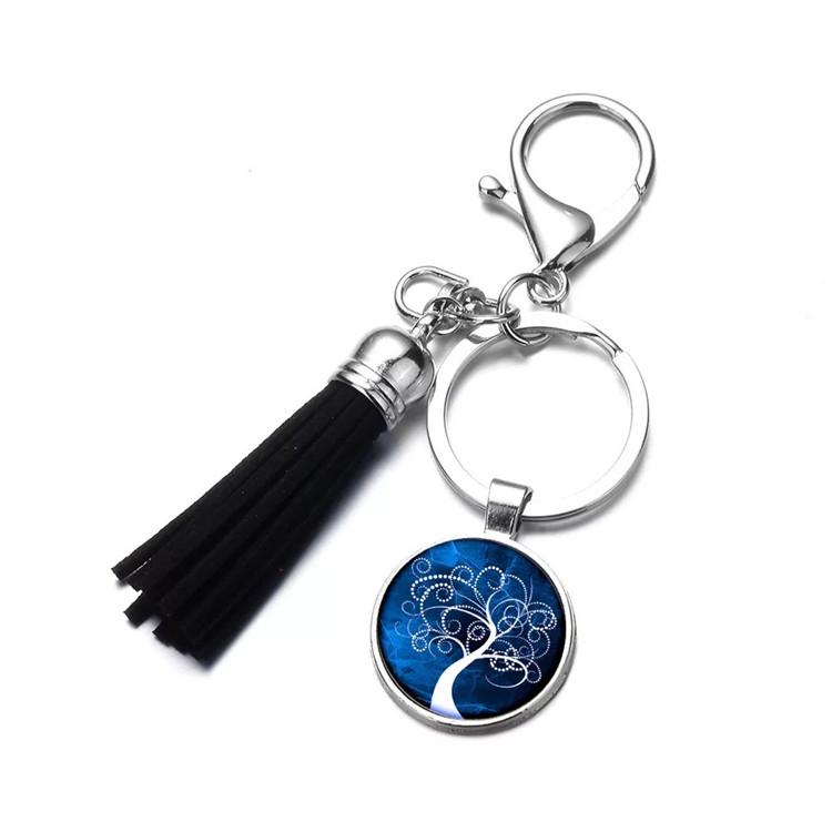 custom coin keychains with tassel