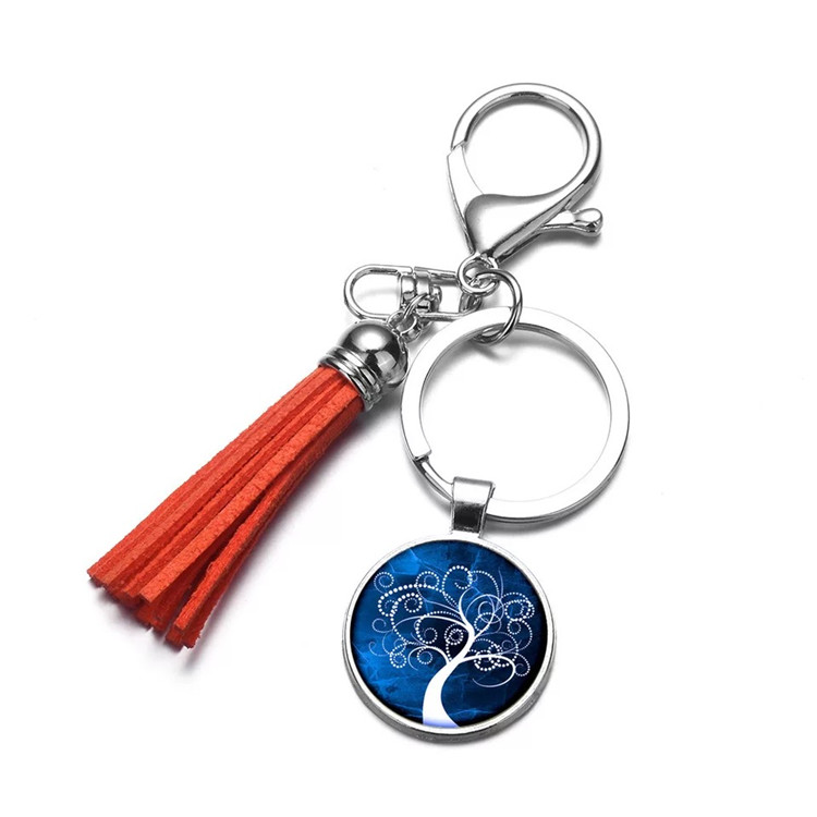 custom coin keychains with tassel -3