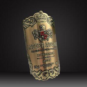 custom metal wine labels-4