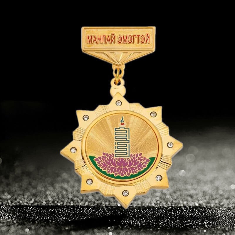 custom award medals with crystal stone