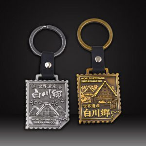 Custom leather keychains with die-casting logo