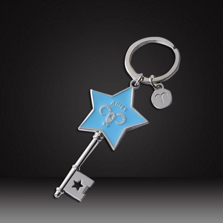 start gold Custom shaped keychains