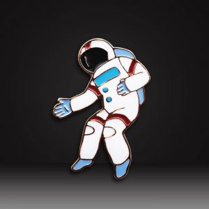astronaut custom soft enamel pins