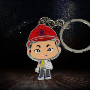 hard enamel custom cartoon Keychain