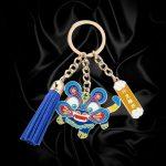 custom tassel keychains with cartoon tag