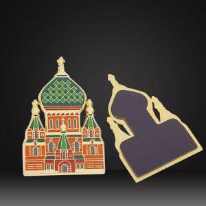 Custom fridge magnet-Russia building