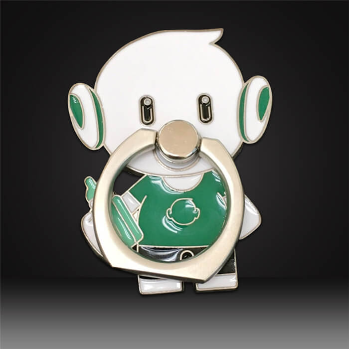 cartoon custom phone ring buckles