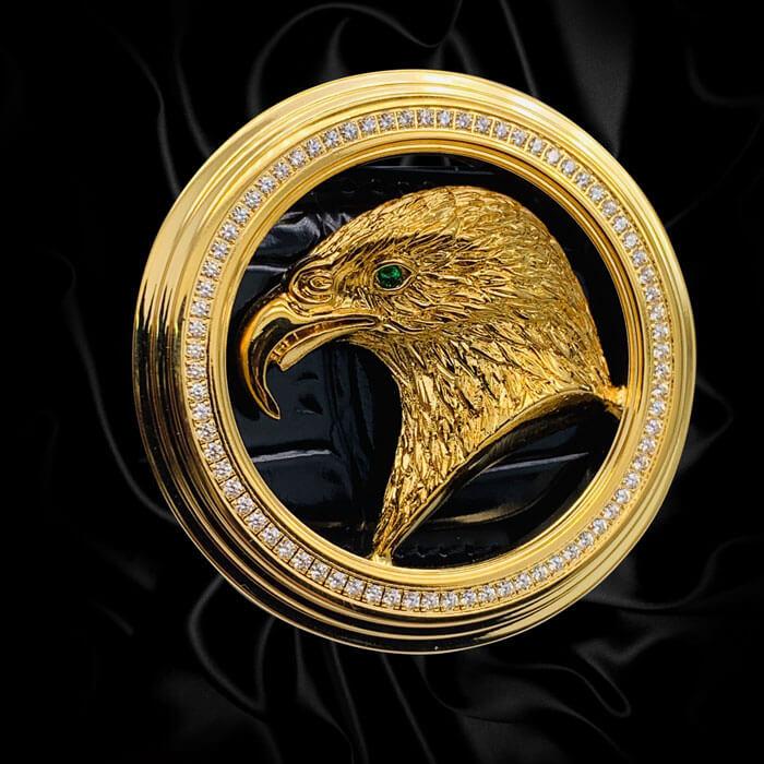 eagle diamond belt buckles