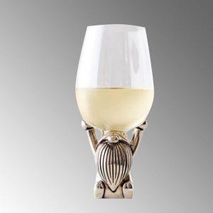 custom metal wine glass with metal base