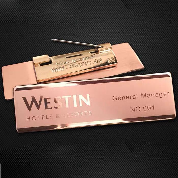 rose gold custom name tags