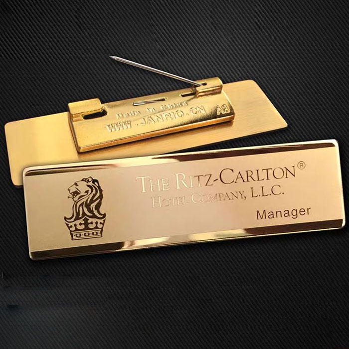 24K GOLD custom name tags