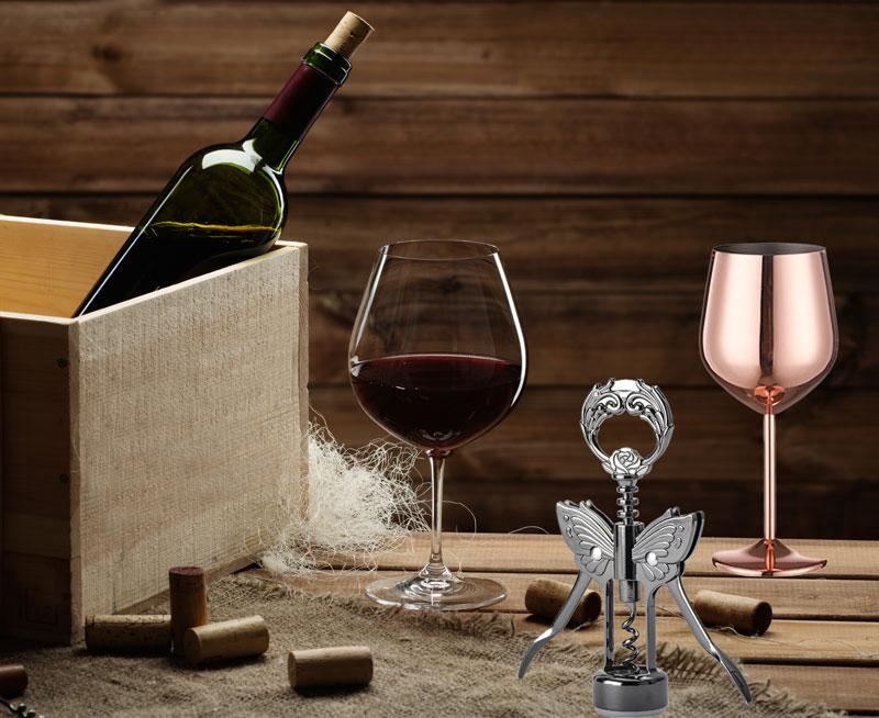 Custom metal wine opener