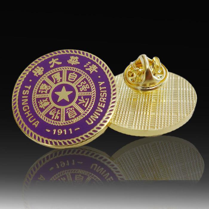 custom school badge pins for university