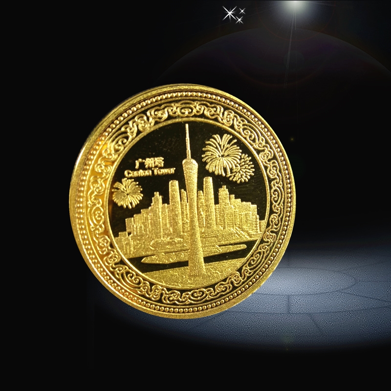 custom coins silver material gold plating