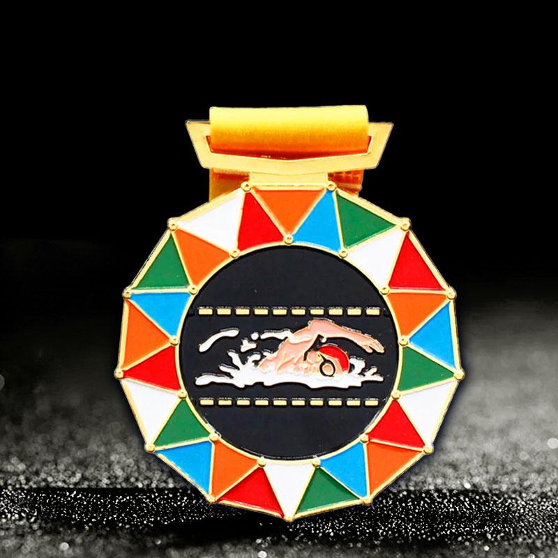 custom swimming medals